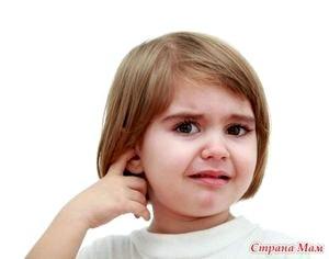Отит у ребенка и причины его возникновения.