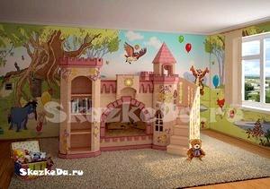 Волшебная роспись детской комнаты.